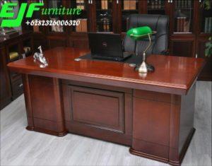 Meja Kantor Minimalis Kayu Jati Sandiego