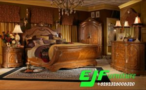 Set Kamar Tidur Kayu Jati Klasik Eropa Style
