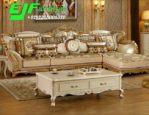 Sofa Sudut Naura Ukir Jepara Terbaru