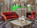 Set Sofa Tamu Klasik Ukir Italian Duco Termewah