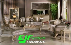 Set Sofa Tamu Ukir Modern Safitri Duco Putih