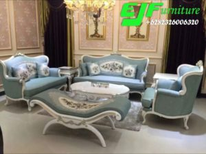 Sofa Tamu Minimalis Modern Ukir Model Italia