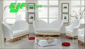 Sofa Tamu Minimalis Kupu Duco Emas