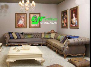 Sofa Tamu Sudut Ukir Terbaru Murah