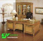 Meja Kantor Executive Jati Duco Gold