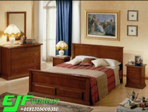 Satu Set Tempat Tidur Jati Minimalis Doremi