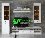 Set Bufet Tv Shope Minimalis Modern Duco Putih
