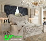 Tempat Tidur Duco Putih Mewah Ukir Jepara Arisna
