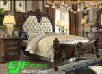 Set Tempat Tidur Jati Klasik Ukir Mawar Asli Jepara