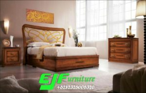 Set Tempat Tidur Jati Minimalis Modern Eropa Terbaru
