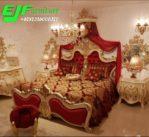 Set Tempat Tidur Ukir Jepara Duco Putih Mewah Casablanca