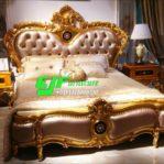 Tempat Tidur Racoco Ukir Jepara Duco Gold Murah