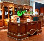 Meja Kantor Modern Kayu Jati Terbaru 012