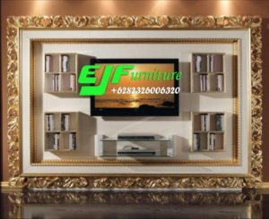 Set Bufet Tv Minimalis Modern Frame Ukir 013