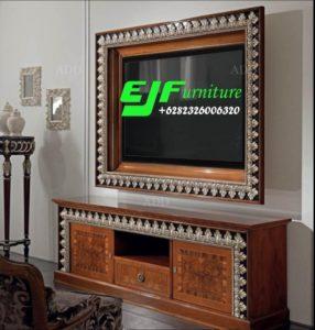 Set Bufet Tv Ukir Mewah Kayu Jati Terbaru 016