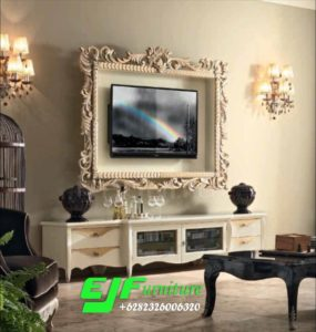 Set Bufet Tv Ukir Mewah Terbaru 007
