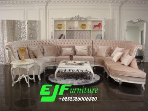 Sofa Tamu Sudut Ukir Modern Motif U 236