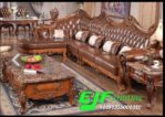 Kursi Tamu Sofa Sudut Ukir Jati Mewah 265