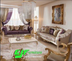 Sofa Tamu Ukir Modern Mewah Asli Jepara 266