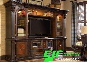 Bufet Tv Jati Klasik Ukir Jepara 022