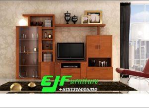 Bufet Tv Jati Minimalis Modern Terbaru 018