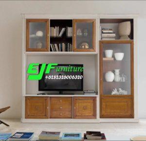Bufet Tv Minimalis Modern Jati Mewah 28