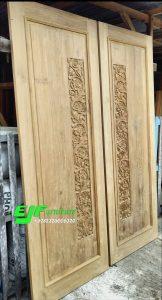 Pintu Rumah Ukir Jati Jepara Model Terbaru 014
