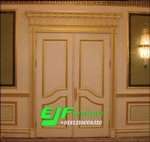 Pintu Rumah Ukir Jepara Duco Putih Emas 011