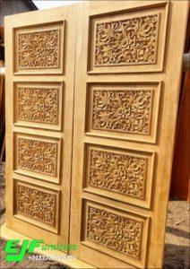 Pintu Rumah Ukir Kayu Jati Jepara 002