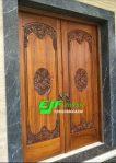 Pintu Rumah Ukir Mewah Kayu Jati Jepara 015