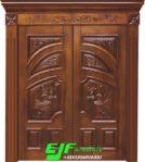 Pintu Rumah Utama Ukir Mewah Jati Jepara 006
