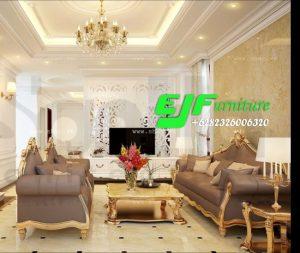 Sofa Tamu Minimalis Modern Duco emas Mewah 284