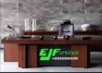 Meja Kantor Minimalis Jati Jepara Terbaru  014