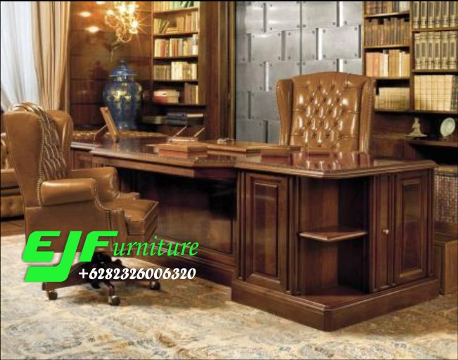 Meja-Kantor-Minimalis-Jati-Klasik-Model-Terbaru-17 Meja Kantor Minimalis Jati Klasik Model Terbaru 17