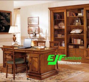 Meja Kantor Minimalis Kayu Jati Jepara 013
