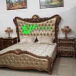 Set Tempat Tidur Ukir Kayu Jati Jepara mewah 7
