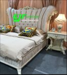 Set Tempat Tidur Ukir Mewah Disain Italian 063