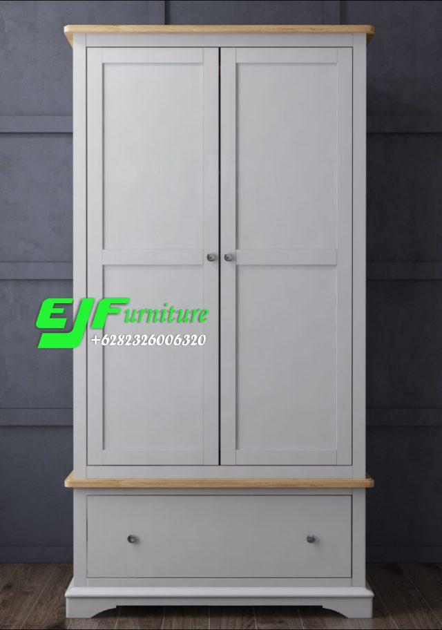 Lemari Pakaian Minimalis Modern Dua Pintu 33 - Edy ...