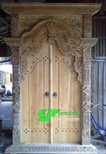 Pintu Gebyok Ukir Jati Jepara Ukuran 150cm