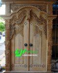 Pintu Ukir Gebyok Kudusan Jati Jepara ukuran 180cm