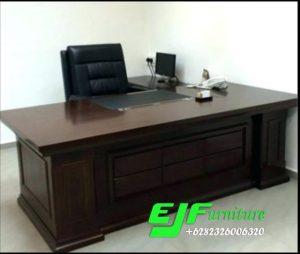Meja Kantor Minimalis Modern Kayu Jati 22