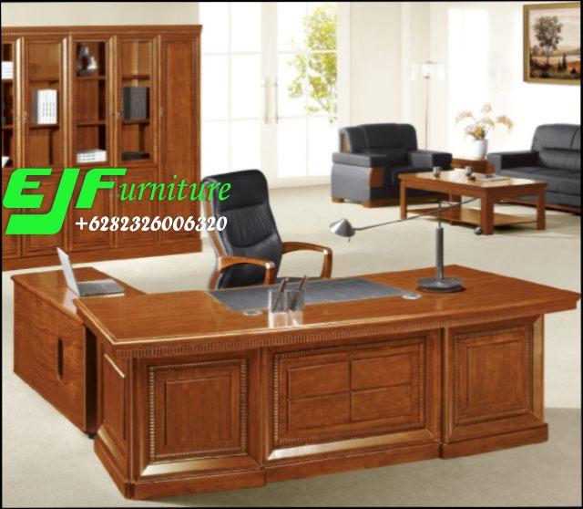 Meja-Kantor-Minimalis-Modern-Kayu-Jati-24 Meja Kantor Minimalis Modern Kayu Jati 24