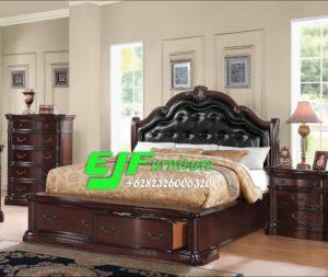 Tempat Tidur Minimalis Kayu Jati Klasik 086