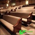 Bangku Gereja Jati Minimalis Jok Kaki Tengah Dobel