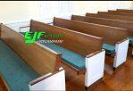 Bangku Gereja Kayu Jati Minimalis Duco Ukuran 250