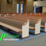 Bangku Gereja Minimalis Jati Kaki Lengkung Duco