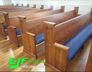 Bangku Gereja Minimalis Modern Ukir Jati Jerapa