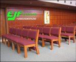 Kursi Gereja Minimalis Kayu Jati Jepara Model Jok