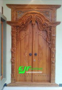 Pintu Gebyok Ukir Kudusan Kayu Jati Ukuran 150 Cm