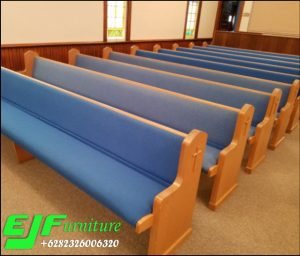 Kursi Bangku Gereja Jati Minimalis Jok Terbaru